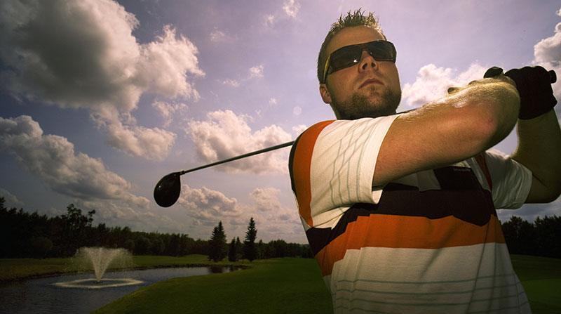 golfer in sunglasses