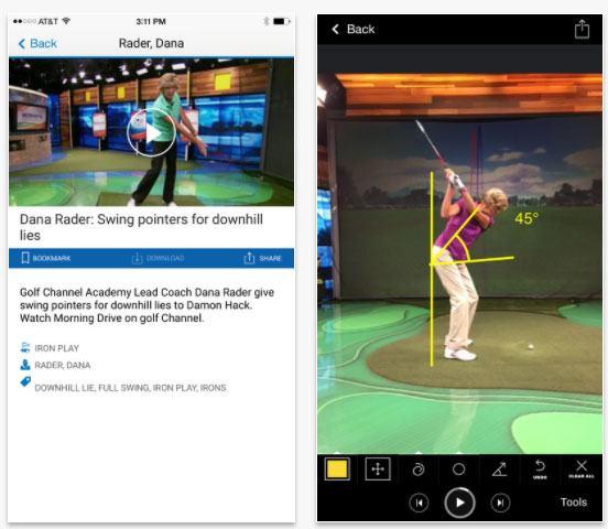 gol academy app by golf channel